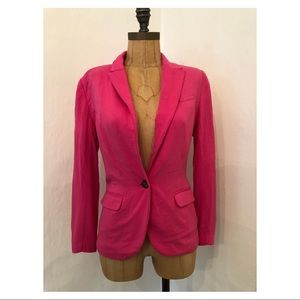 H&M Fitted Blazer Hot Pink 4